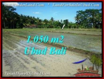 Magnificent 1,050 m2 LAND IN UBUD BALI FOR SALE TJUB544